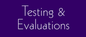 Testing and Evaluations